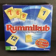 RUMMIKUB 1997 Pressman Fast Moving Rummy Tile Game w/ Bonus Tile Pouch SEALED - $19.98