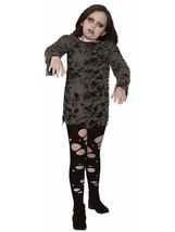 Zombie Girl Little Dead Ghoul Walking Scary Fancy Dress Halloween Child ... - £19.51 GBP
