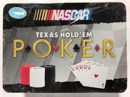 NASCAR Texas Hold`em Poker 240 NASCAR Poker Chips & Custom Playing Cards... - $29.39