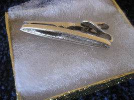 "Silver Tone Swank Tie Clasp 1 1/2""  Gift Boxed CL30-2  - $9.99"