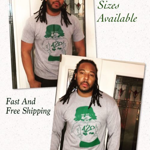 Men's Gray Tshirt Pot/Tobacco Cannabis Smoker Holiday Gift Sale Free Shipping