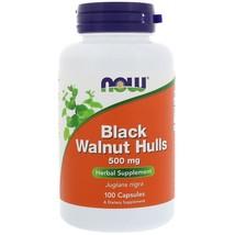 Now Foods, Black Walnut Hulls, 500 mg, 100 Capsules Herbal Supplement - $14.00