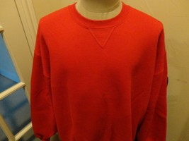 Vtg 90's Blank Red 50-50 Russell Athletic Sweatshirt Excellent Adult 2XL - $34.90