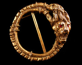 vintage DEVIL brooch - Victorian Demon buckle pin - satan sash pin - gro... - $195.00