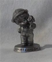 "Avon Pewter Report Card Day Bear Figurine 2"" Tall 1983 - $7.83"