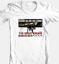 The Great Escape T-shirt Steve McQueen vintage 70s movie 100% cotton tee image 1