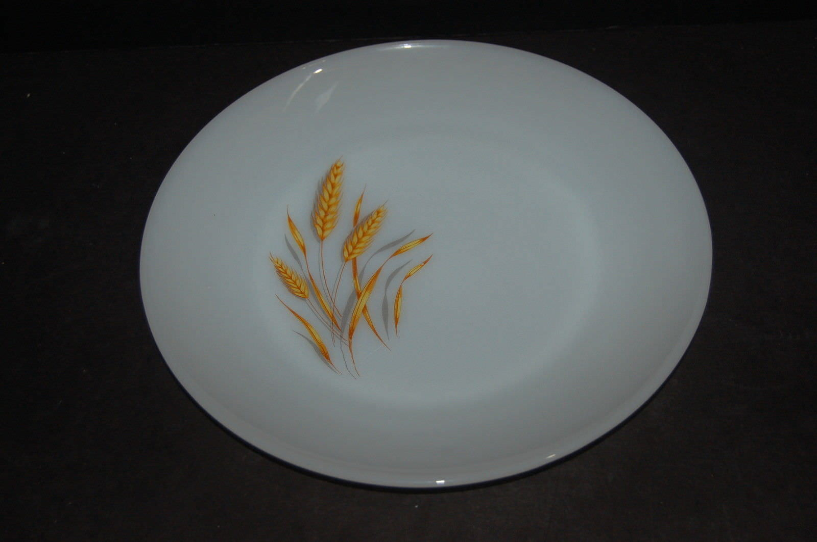 Primary image for 11 Anchor Hocking Fire King Milk Glass Wheat Dinner Plate 10 inch plates