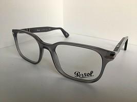 New Persol 3118-V 988 Gray 51mm Rectangular Eyeglasses Frame Italy  - $149.99