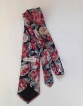 Geoffrey Beene Tie Floral Pink Green Peach Necktie Business Dress Career Vintage image 2