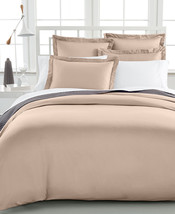 Damask Full/Queen Duvet Cover, 500 Thread Count 100% Pima Cotton, Taupe - $43.54