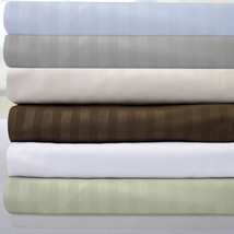 """6 Piece Dobby Stripe 1500 Thread Count Egyptian Quality 16"""" Pocket Bed S... - $21.99+"""