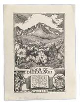 Ex Libris Exlibris Bookplate Anna M Danielsen - $29.69