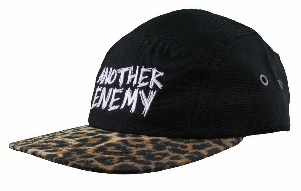 Another Enemy Unisex Wildlife Leopard Print 5 Panel Strapback Baseball Hat NWT