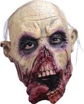 Zombie Tongue JR Mask Adult Gray Hair Bloody Dark Circle Latex Halloween... - $39.99