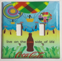 Coke Coca-Cola Hot Air Balloon Light Switch Outlet wall Cover Plate Home Decor image 3