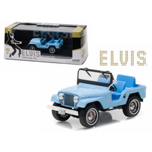 1963 Jeep CJ5 Sierra Blue Elvis Presley (1935-1977) 1/43 Diecast Model Car by Gr - $31.92