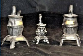 Salt and Pepper and ToothPick Holders AA18 -1090 Set of 3 Vintage Collectible