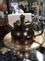 Vintage Nelson McCoy Pottery USA Bronze Teapot #240 - $29.39