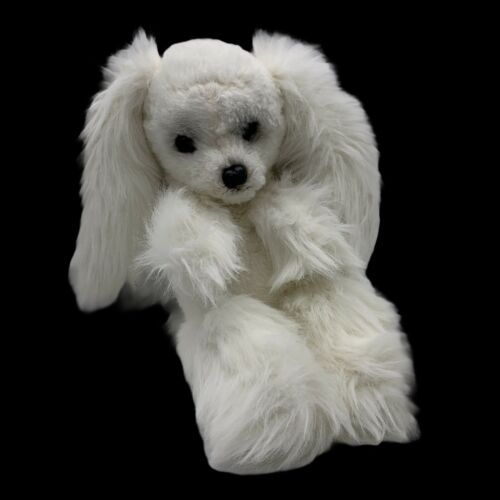 Primary image for Kamar Japan Vtg White Long Hair Ears Poodle Puppy Dog Plush Odd Unusual