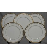 Set (5) MIKASA Fine China GOLDEN SHELL PATTERN Dinner Plates MADE IN JAPAN - $128.69