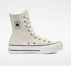 Neuf Converse Chuck Tailleur Tout Étoile Plateforme Extra Haute Egret Cuir Blanc - $130.89