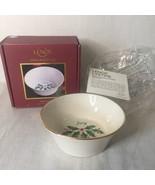 "LENOX Holiday Round JOY Dish Nut Candy Bowl HOLLY BERRY Christmas New 4.5"" - $6.92"