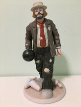 "Clown Figurine The Emmett Kelly Jr. Collection From Flambro Bowling 8"" Tall - $24.74"