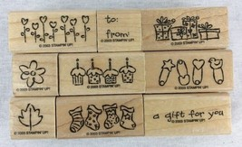 Stampin Up Tag Alongs Stamps Gift Tags Birthday Christmas Baby Set of 9 NEW 2003 - $8.86