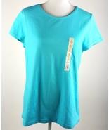 Sonoma Life + Style Everyday Tee Womens Size Large Blue Short Sleeve Shi... - $11.29