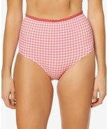 Jessica Simpson Printed High-Waist Bottoms Women's Swimsuit (Pink, S) - $25.90