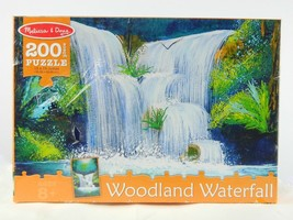 Melissa & Doug Woodland Waterfall Scene Jigsaw Puzzle (200 pcs) New Sealed  - $22.72