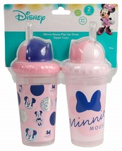 NEW Disney Baby Minnie Mouse Pop Up Straw Sipper Cups 2 Pk FREE SHIPPING - $15.99