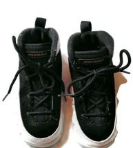 Nike air Jordan Kids Sneaker Size 7 Month Girls White Black Leather - $12.87