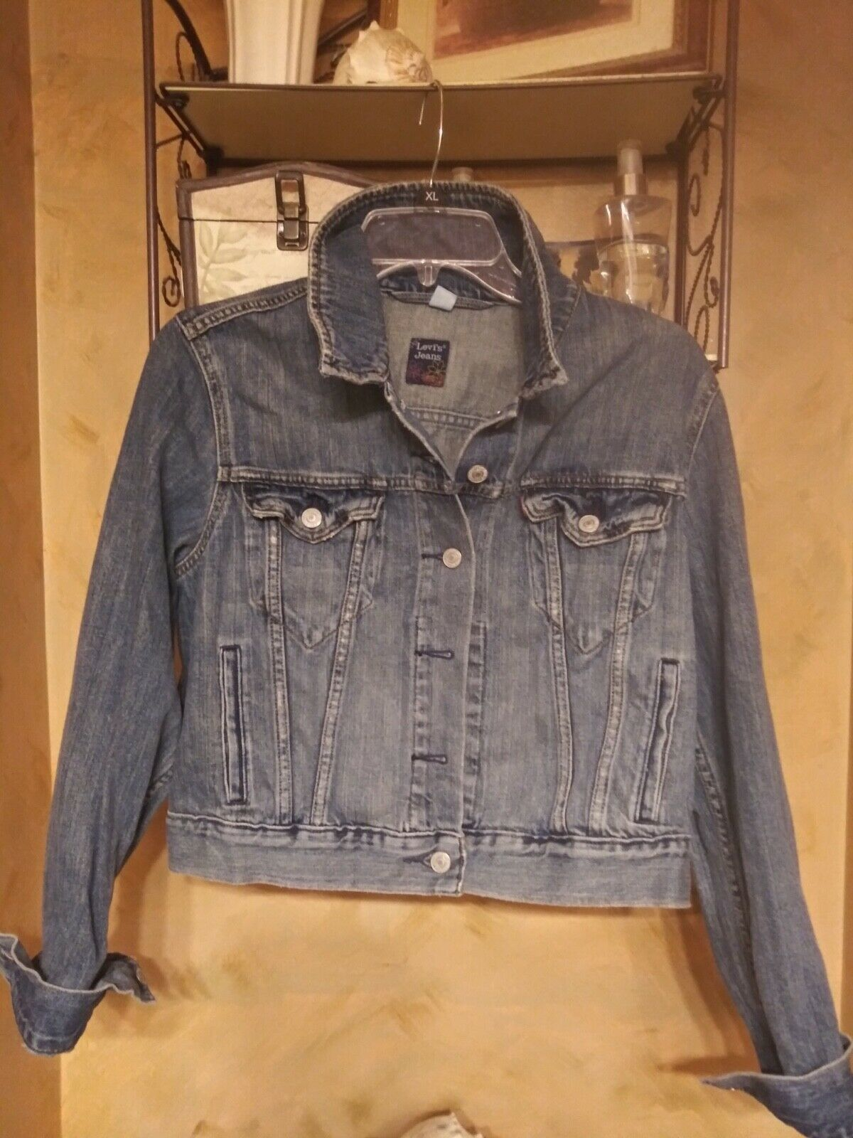 Primary image for Levi's Jeans label Junior L  girls jean jacket trucker