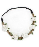 Hippie Love Flower Garland Crown Festival Wedding Hair Wreath BOHO Floral - $19.05