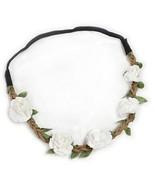 Hippie Love Flower Garland Crown Festival Wedding Hair Wreath BOHO Floral - $19.05