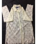 Karen Scott Women White Button Up Casual Shirt Long Sleeve Size Large Bi... - $18.70