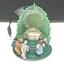 Hallmark Wizard Of Oz The Great Oz Magic Xmas Ornament Voice & Lights - $27.66