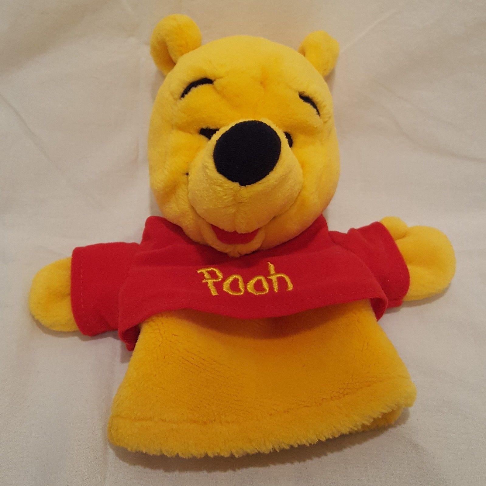 "Winnie the Pooh Hand Puppet Disney 9""  Plush Stuffed Animal Toy"
