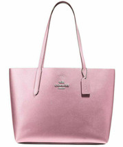 NWT Coach F37871 Metalic Avenue Tote Leather Pink Tulip $350 Retail  - $129.99
