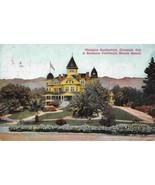 Glendale Sanitarium Los Angeles California 1913 postcard - $5.89