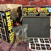 Vintage 1978 Hasbro Lite-Brite Pegs Refill Packs Light Pegs #5455 Original Box - $69.99