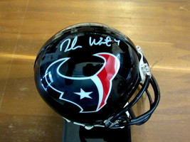 DESHAUN WATSON # 4 HOUSTON TEXANS QUARTERBACK SIGNED AUTO MINI HELMET JSA  - $117.81