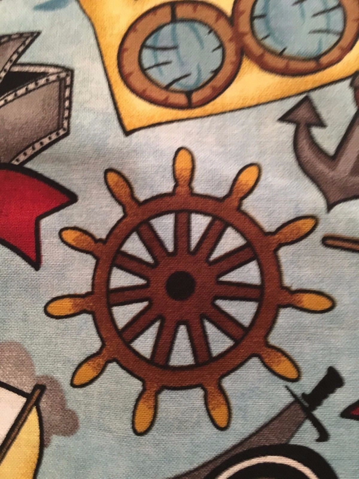 Disney Jake /& the Neverland Pirates Treasure A Hoy Cotton Fabric by the 1//2 Yard