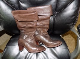 FRYE Dorado Slouch Boots 77580  Fold-Over Cuff Dark Brown Leather Size 6... - $160.80