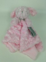 Blankets and Beyond Pink Gray Soft Bunny Lovey Security Blanket Plush St... - $19.55