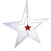 3D Aluminum and Crystal Star Ornament image 2