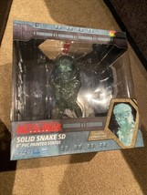 """Metal Gear Solid Solid Snake SD 8"""" Fire Lights Up! Stealth Camouflage PVC Statue - $44.54"""