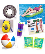 Pool Floats Inflation Swimming Sets Beach Balls Adult Kids Pool Safety - $6.92+