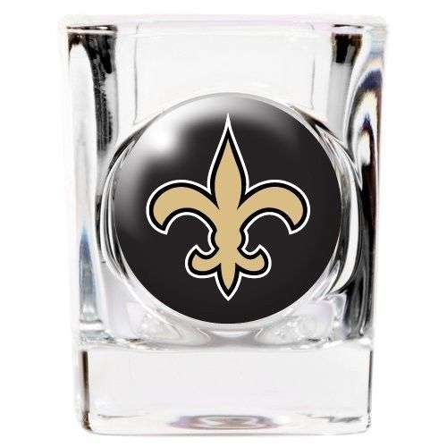 NEW ORLEANS SAINTS 2 OZ DOMED LOGO SQUARE SHOT GLASS  NFL FOOTBALL